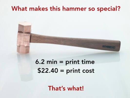 3D-gedruckter Hammer