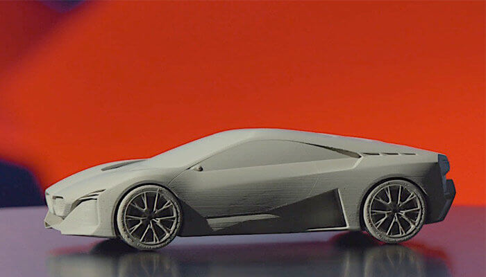 3D-gedrucktes Modell des Fahrzeugs