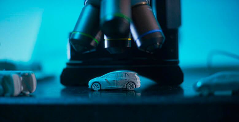 3D-gedrucktes VW ID.3-Modell