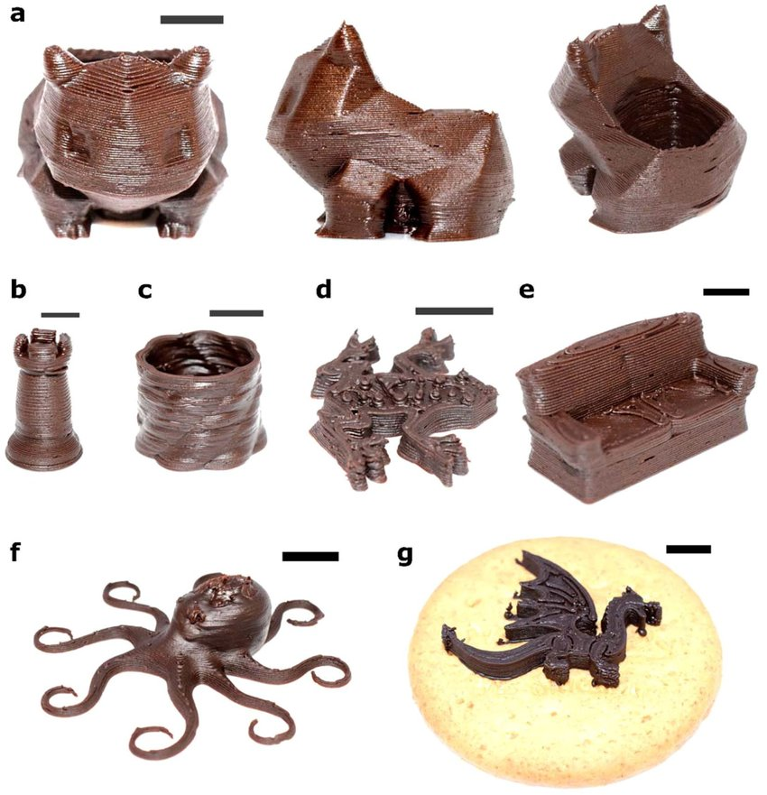 Forschern aus Singapur gelingt 3D-Druck von Schokolade mit unterschiedlicher Konsistenz