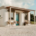 3D-gedrucktes Haus komplett