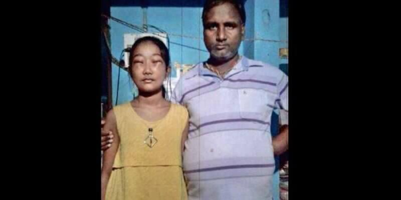 Bibhabari Samal und ihr Vater