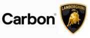 Logo Lamborghini und Carbon