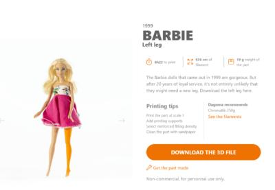 3D-Modell Barbie Übersicht