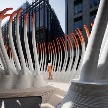 3D-gedruckter Pavillon Deciduous