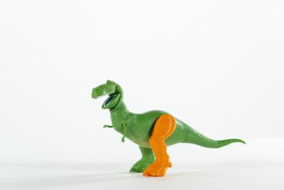 Dinosaurier mit 3D-gedrucktem Bein
