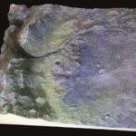 3D-Druckmodell des Jezero Kraters