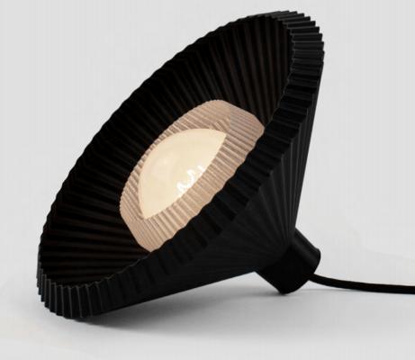 3D-gedruckter Lampenschirm schwarz