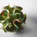 3D-gedrucktes Zuckerobjekt