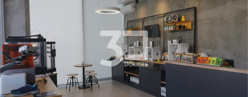 3Dörtgen 3D-Druck-Cafe in Istanbul