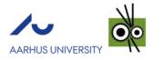 Logo der Aarhus University und Aage Vestergaard Larsen A / S