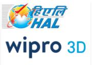 HAL und Wipro 3D Logo