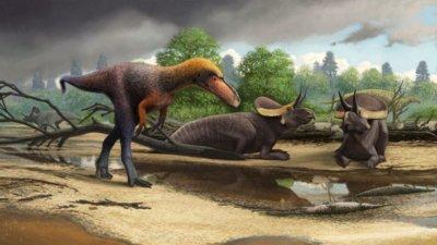 Rendering eines Dinosauriers
