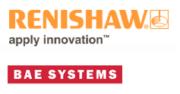 Logo von Renishaw und BAE Systems