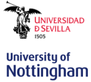 Logo der Universidad de Sevilla und der University of Nottingham