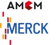 AMCM und Merck Logo