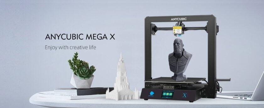 Mega X und 3D-gedruckte Objekte