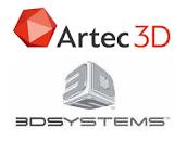 Artec 3D und 3D Systems Logo