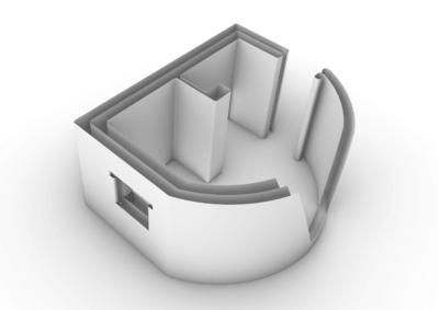 3D-Grafik Haus von COBOD