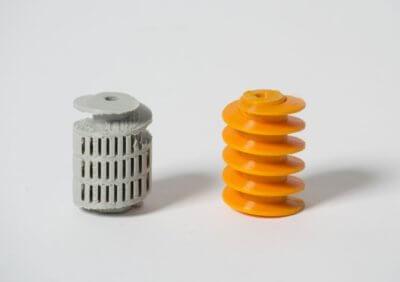 3D-Druckobjekte mit und ohne Rotoprinter gedruckt
