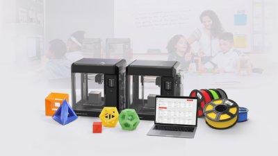 3D-Drucker und Paketinhalt