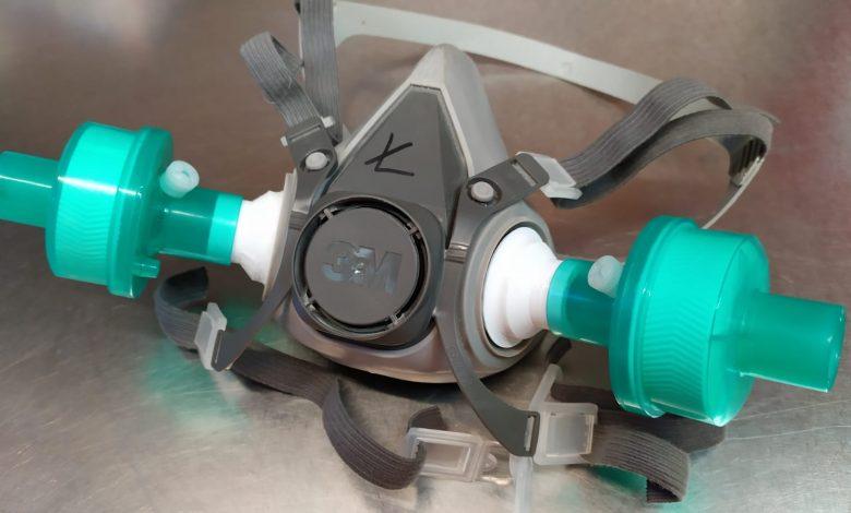Maske mit Filter aus dem 3D-Drucker