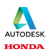 Autodesk und Honda Logo