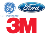 GE Healthcare, Ford, 3M Logos