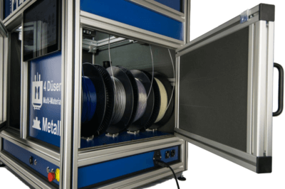 Multec M4 Metal Ansicht vier Filamentrollen