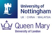University of Nottingham und Queen Mary University of London Logo