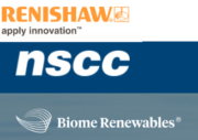 Logo Renishaw, Biome Renewables und NSCC