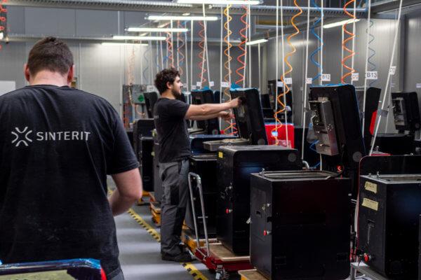 3D-Druck-Produktionsstätte, Innenansicht