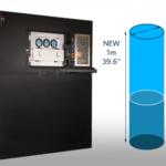 Grafik zum neuen 3D-Drucker und Bild daneben