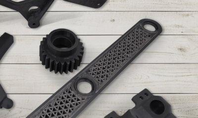 3D-gedruckte Objekte in schwarz