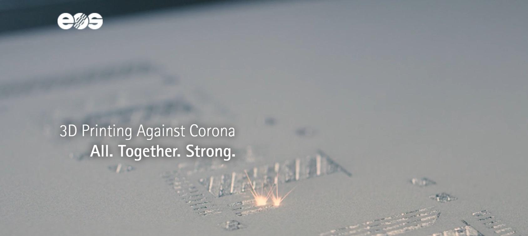 Werbemittel für 3DAgainstCorona-Website