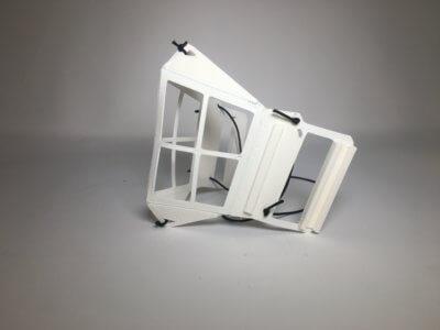 3D-gedruckte Schutzmaske seitlich