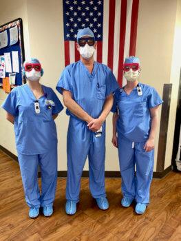 Ärzte mit Fitz Protect Brillen