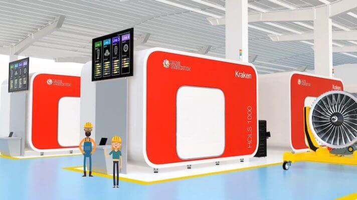 3D-Drucker und Figuren, die den Auftragsservice symbolisieren sollen