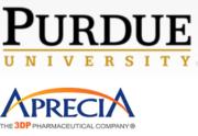 Logo Purdue University Aprecia Pharmaceuticals