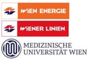 Logo Wien Energie, Wiener Linien und Med Uni Wien
