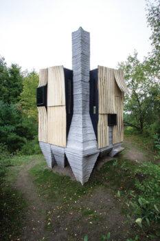 3D-gedrucktes Gebäude Ashen Cabin