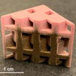 Farbiges Objekt aus dem 3D-Drucker