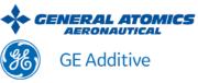 General Atomics Aeronautical Systems und GE Additive Logo