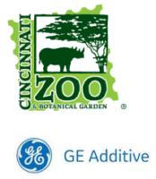 Logo GE Additive und Cincinnati Zoo