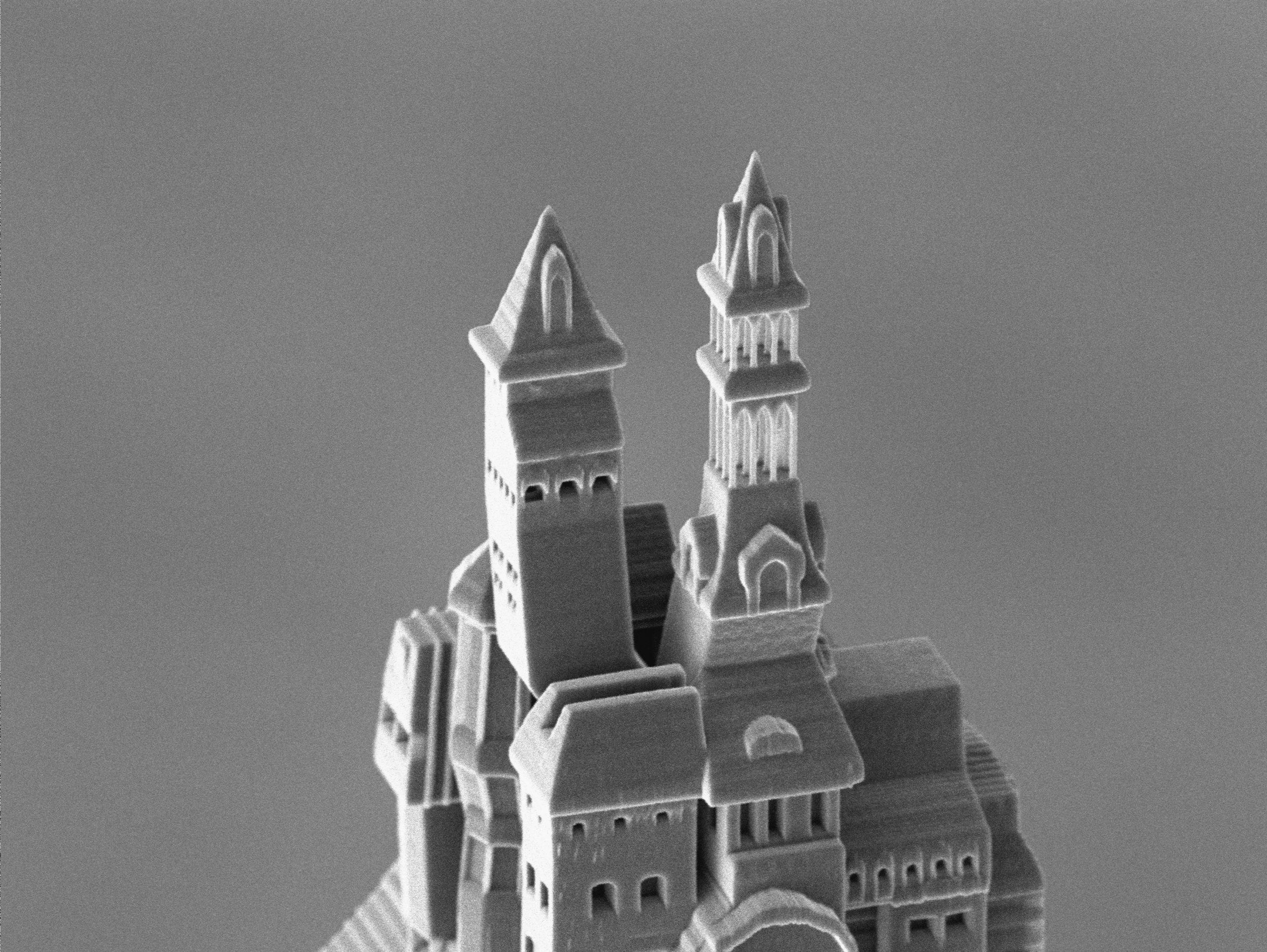3D-gedruckte Burg im Detail