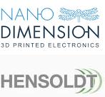 Nano Dimension und HENSOLDT Logo