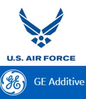 GE Additive und U.S. Air Force Logo