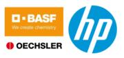 Logos von HP, BASF und OECHSLER