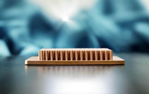 3D-gedruckter Kühlkörper aus Kupfer