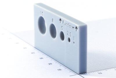 3D-gedrucktes Objekt in Grau
